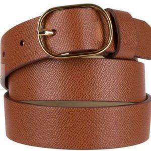 Women's Merona snake skin Gold Oval Buckle Belt